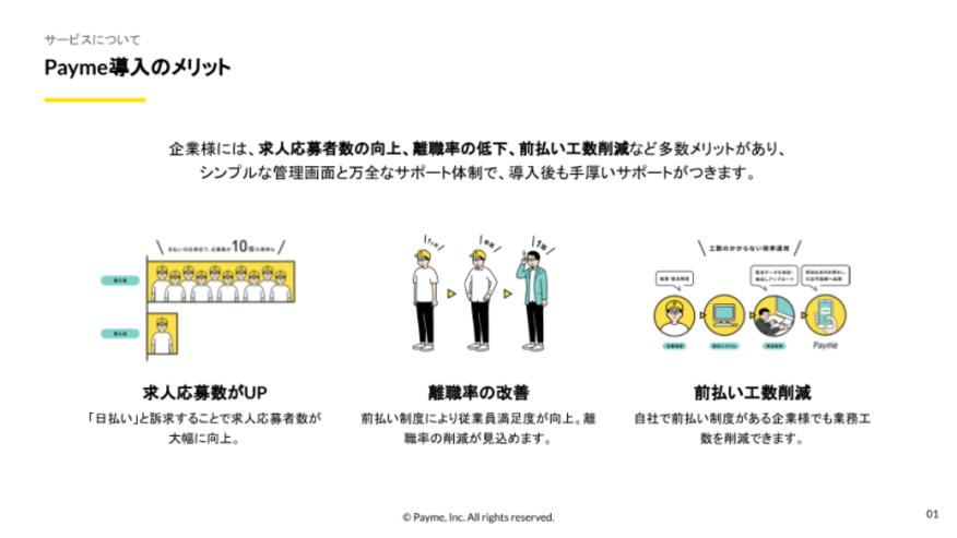 Payme_シンプルなUI