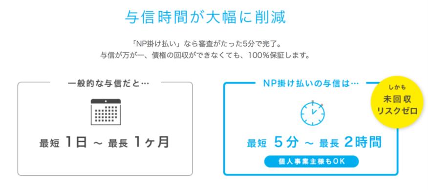 NP掛け払い_与信の素早さと高い通過率