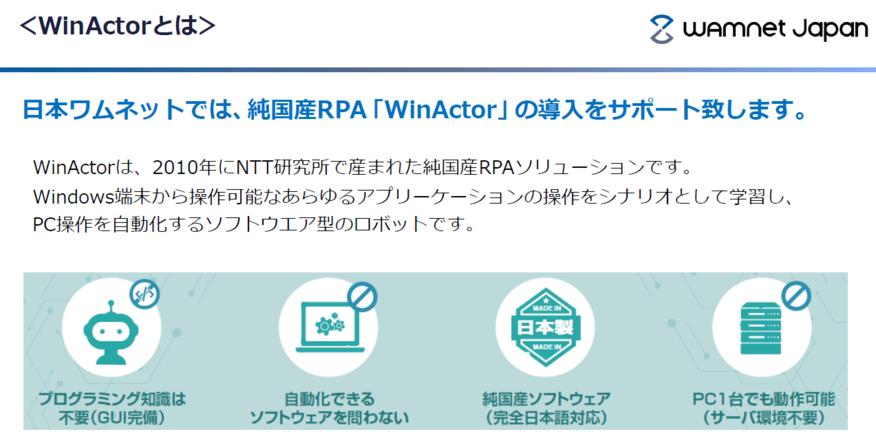 WinActor販売/導入支援サービス_WinActorについて