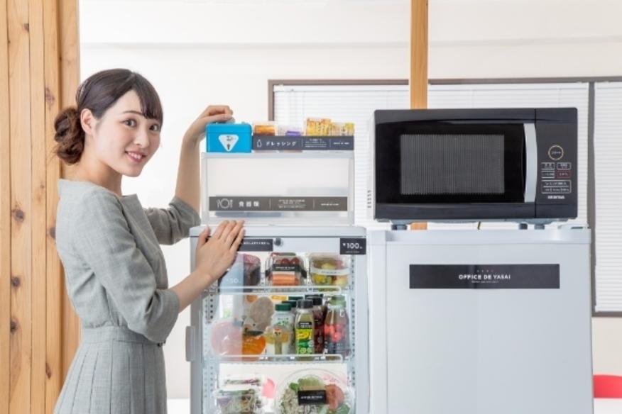 従業員は1つ100円~ 手軽に購入可能。健康的な食事がコンビニよりお得に 購入できるので、従業員満足度も向上!